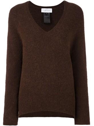 jumper women spandex mohair brown sweater