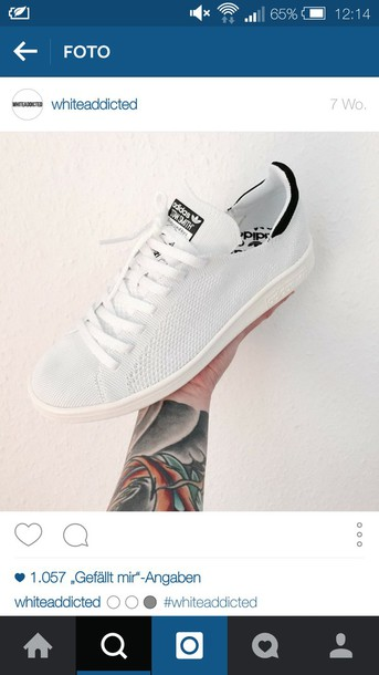 dc10cd8db3eb shoes adidas stan smith primeknit stan smith primeknit white bw white shoes  sneakers summer style fashion