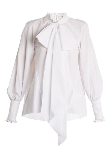 Erdem blouse ruffle cotton white top