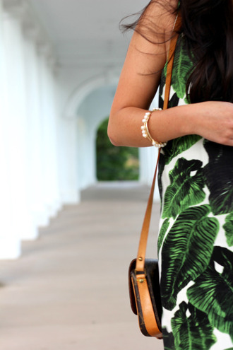 dress shift dress palm tree printed dress summer dress green dress palm tree print