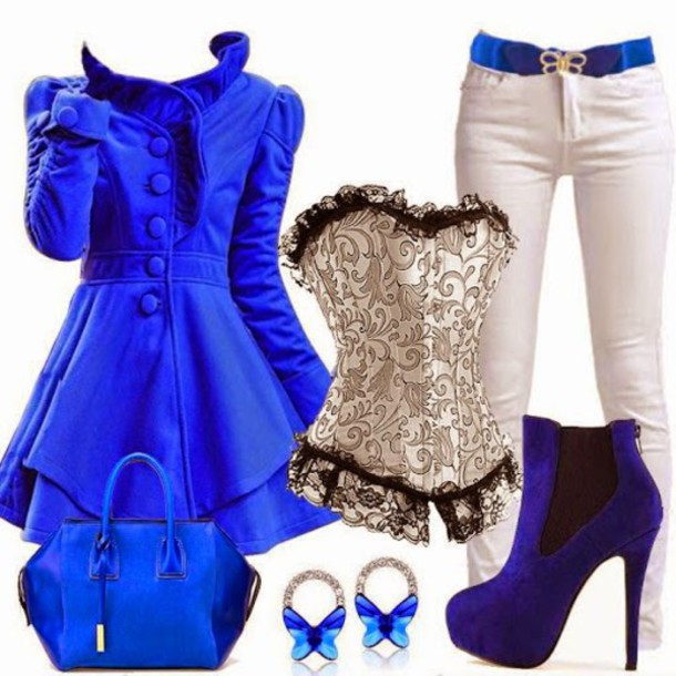 coat trench coat pants white blue ankle boots earrings top bad