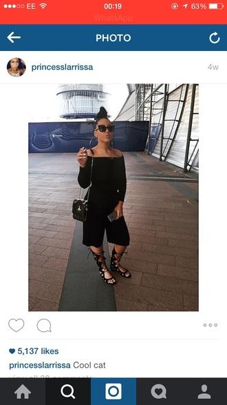 jumpsuit black jumpsuit strapless black jumpsuit knee high gladiator sandals