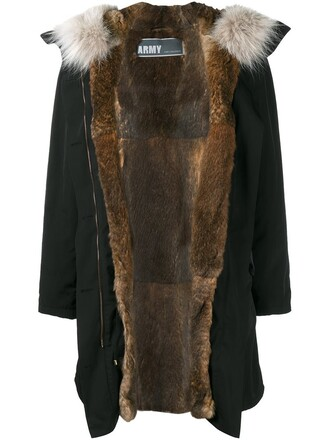 parka fur women brown coat