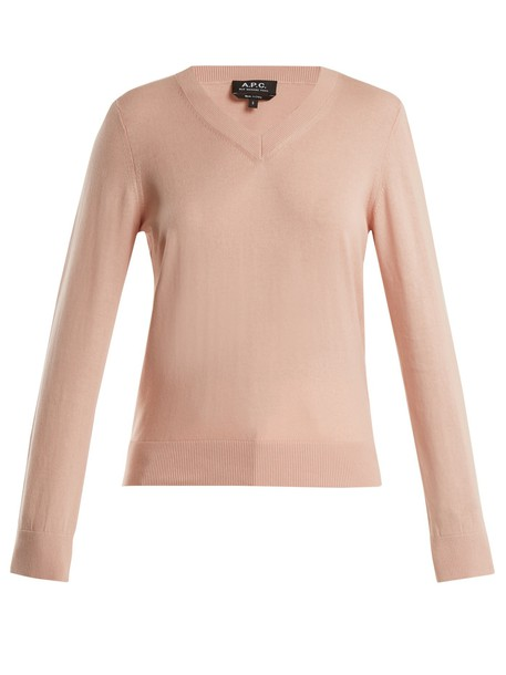 sweater cotton light pink light pink
