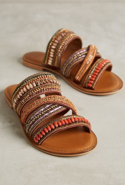 shoes hippie sandals summer hippie gypsy african american moroccan colorful