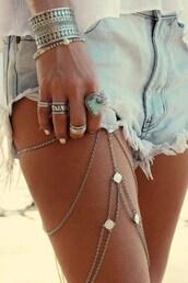 jewels,bracelets,tumblr,jewelry,silver jewelry,ring,silver ring,gemstone,gemstone ring,silver bracelet,shorts,denim shorts