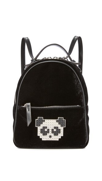 baby panda backpack black bag