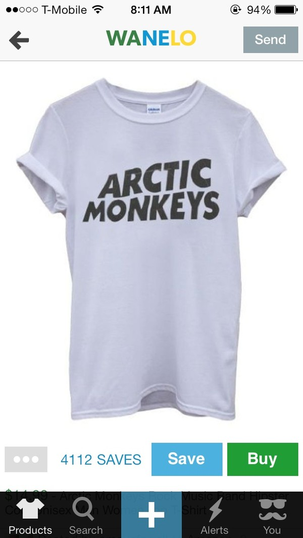 blouse arctic monkeys t-shirt