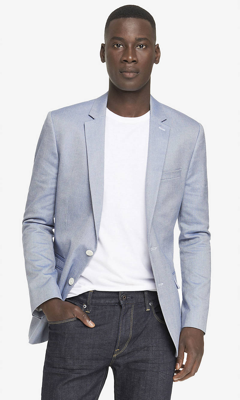 COTTON OXFORD BLAZER from EXPRESS