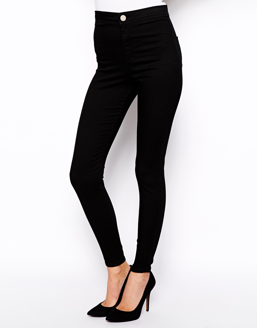 Black high waisted ankle grazer jeans