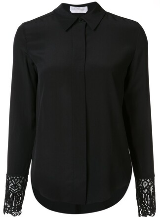 blouse lace black top