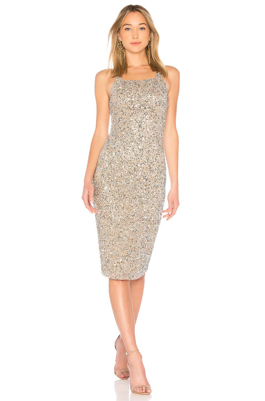 Parker Black Sage Dress in metallic / silver