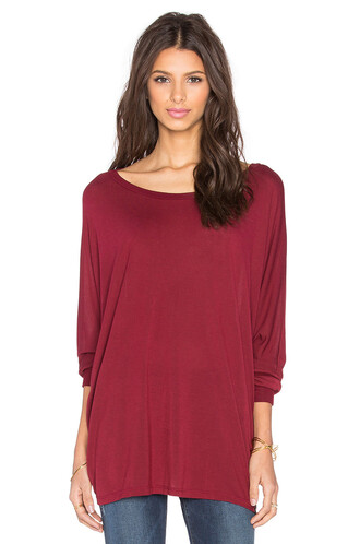 top cape oversized long red