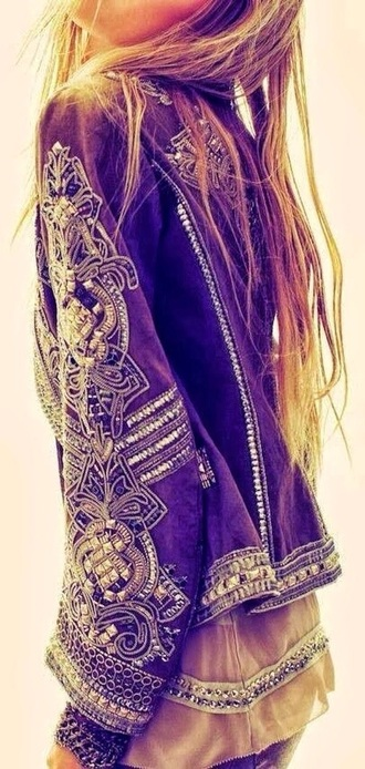 jacket bohemian embroidered embroidered jacket
