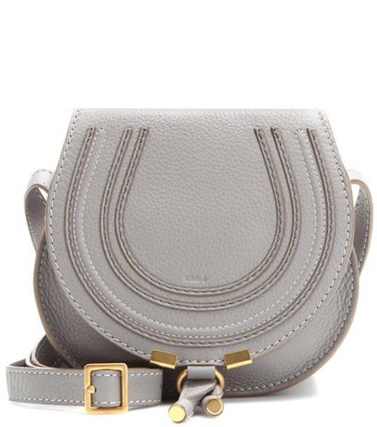 Chloe bag shoulder bag leather grey