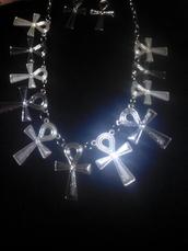 nail accessories,egypt,metallic,necklace metalic,karen aguilera