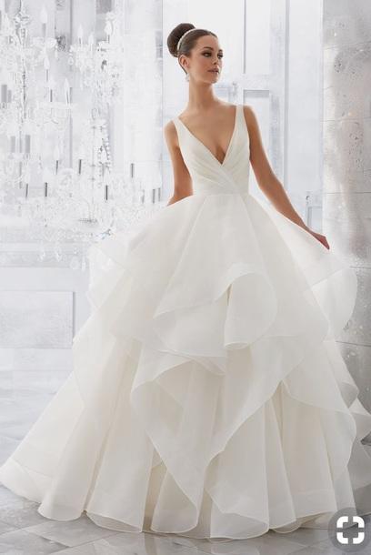 dress, white, wedding dress, prom dress, prom, flowy, lace, silk ...