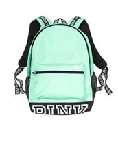 bag,back to school,backpack,mint,pink by victorias secret