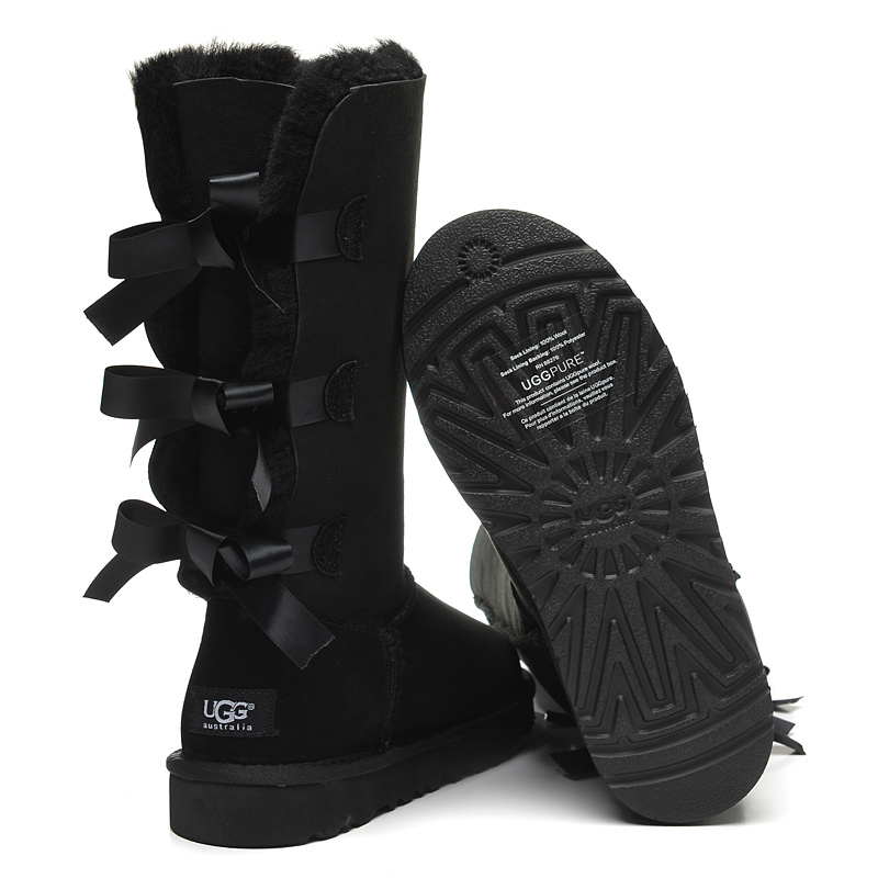 ugg bailey bow 7308 black boots 7308 boots001