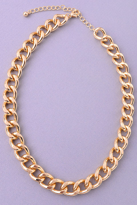 Glam gold chain link necklace