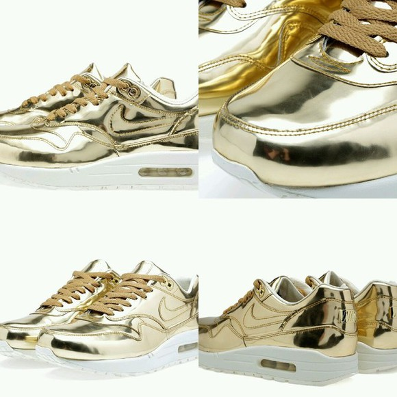 nike air max sneakers trainers gold