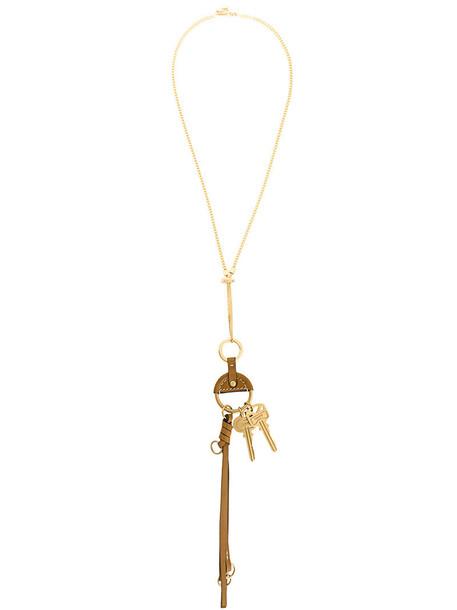women necklace leather grey metallic jewels