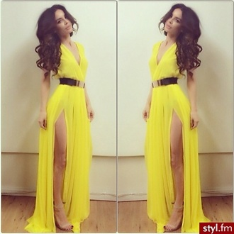 yellow yellow dress style maxi dress elegant elephant