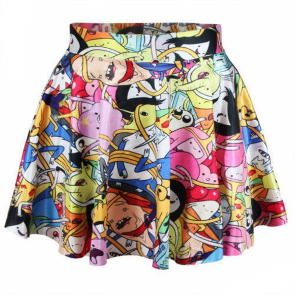 korea skirt japan adventure time skirt cutek kawaii ulzzang cheap gift adventure time free shipping