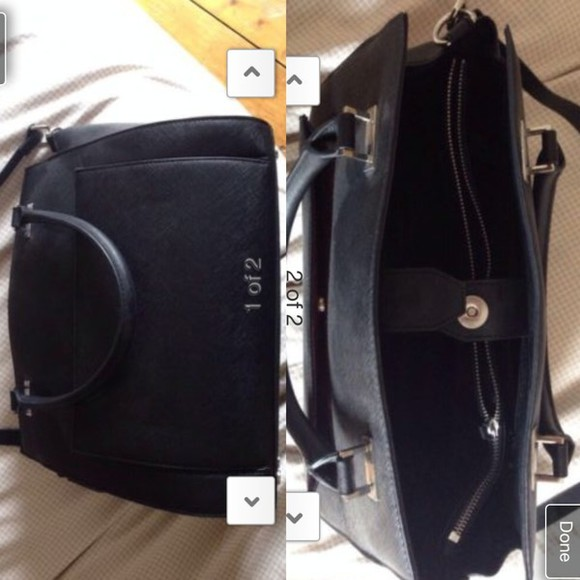 bag black bag leather bag h&m handbag h and m shoulder bag