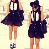 dress,romwe,romwe dress,black,white,cut-out