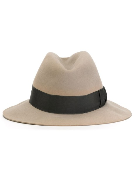 Hermès Vintage grosgrain band fedora hat - Grey