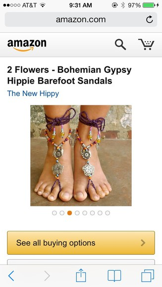 shoes boho gypsy barefoot sandals