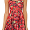 Lady strawberry digital print pleated skater dress 2014 women the brand vintage summer shorts dresses for girls high elasticity-in dresses from apparel & accessories on aliexpress.com