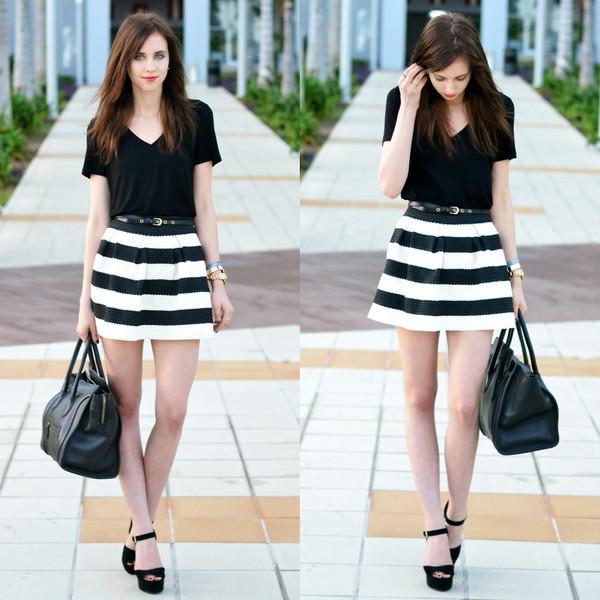 skirt stripes dress clothes fashion bag shirt
