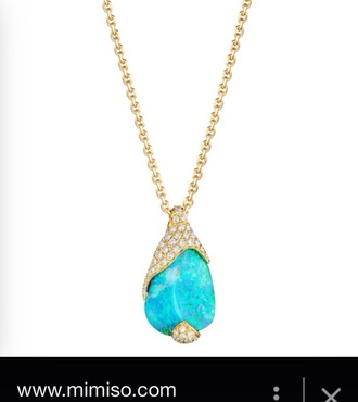 jewels real gold with blue opal gem stone