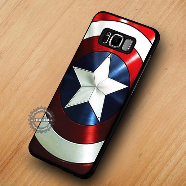 Captain America's Shield The Avengers - Samsung Galaxy S8 S7 S6 Note 8 Cases & Covers #SamsungS8