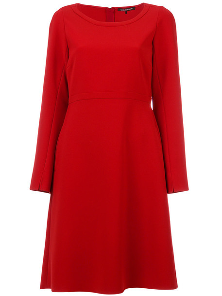 Luisa Cerano dress flare dress flare women fit red