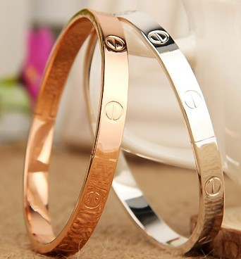 18KGP Fashion costume jewelry 18K rose gold plated lover bangle gift for women mix color B637-in Special Store from Jewelry on Aliexpress.com
