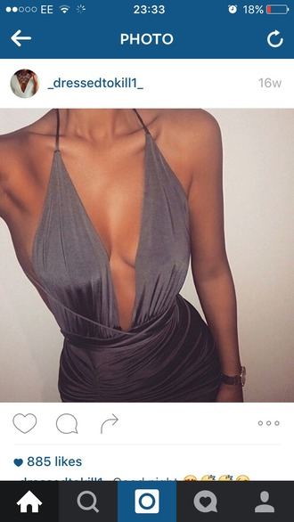 dress silver mettalic space grey metallic dress tie dress slinky dress slinky black dress grey grey dress kylie jenner dress bodycon dress spandex dress