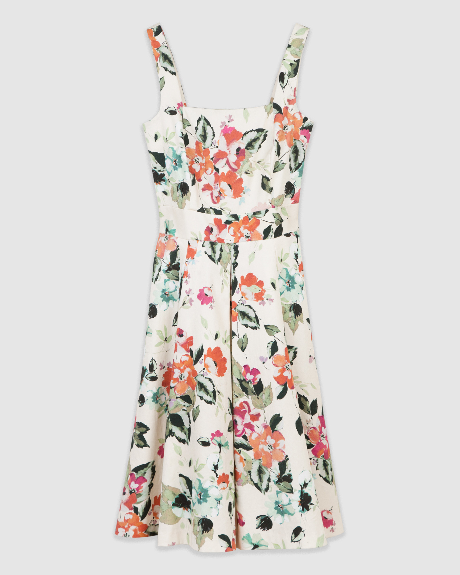 Maxipleated Floral Dress
