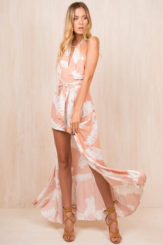 jumpsuit sundae muse summer jumpsuit summer pink and white pink jumpsuit pink jumpsuit sexy classy