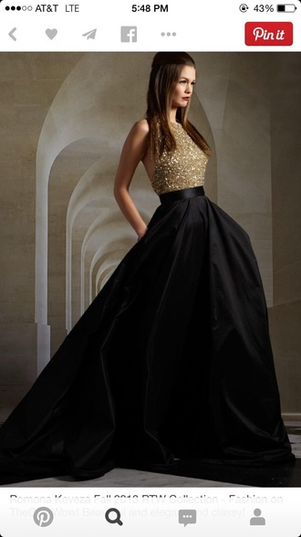 dress black long prom dress glitter dress formal dress black dress longdress prom dress gold model
