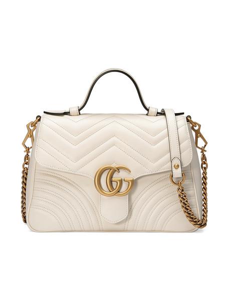 gucci metal women bag leather white