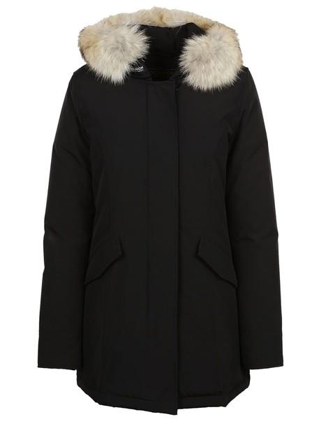 coat parka long black