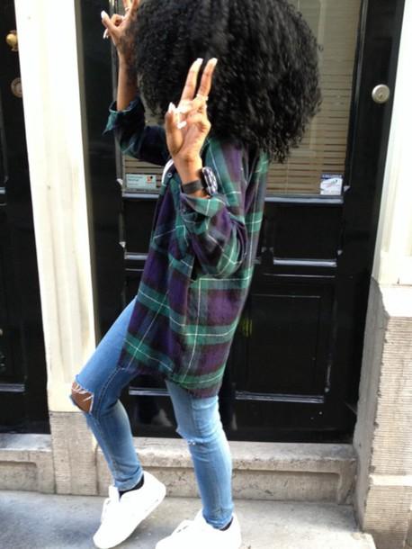 blouse flannel shirt plaid jacket