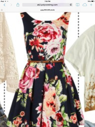 dress black floral dress cardigan