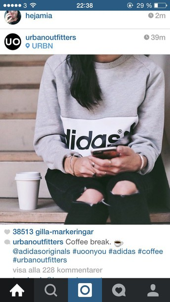 sweater grey adidas original