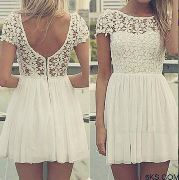 fashion dress lace dress white dress girly jullnard style cute dress
