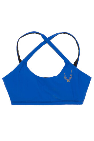 bra sports bra blue underwear