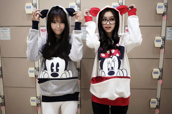 Hot Women Girl Cartoon Animal Mouse Ears Top Jumper T Shirt Hoodies Sweatshirt A | eBay